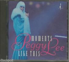 PEGGY LEE - Moments like this - CD 1993 MINT CONDITION
