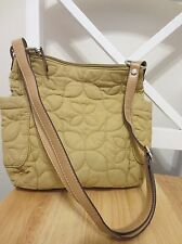 vintage RELIC QUILTED FABRIC KHAKI TAN cross body shoulder bag purse RLH8010 MED