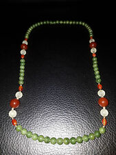 Very Beautiful Chinese Green Jade Bead Necklace.