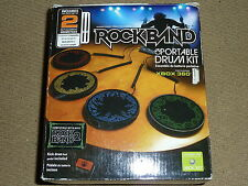 OFFICIAL ROCK BAND PORTABLE DRUM CONTROLLER KIT for MICROSOFT XBOX 360 Pad Pedal