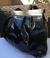 STUNNING***Salvatore Ferragamo Patent Leather Tote, Shoulder Bag, HANDBAG-HOT