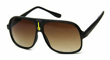 Turbo Aviator Sunglasses Brown Sport Flat Top Men Women Fashion Style