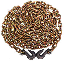 "Grade 70 - 3/8"" x 20' Chain with clevis hooks"