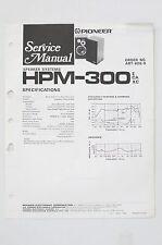 PIONEER HPM-300 Orig. Altoparlante Sistema Manuale di Servizio/Istruzioni/