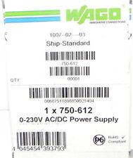 NIB WAGO 750-612 BUS POWER FEED W/O FUSE 250V POWER SUPPLY 0-230V AC/DC 750612