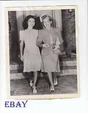 Mary Pickford Shirley Temple candid 1943 VINTAGE Photo