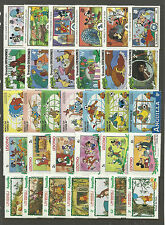 WALT DISNEY CARTOON STAMPS COLLECTION PACKET of 30 Different Stamps MNH (Lot 5)