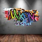MULTI COLOUR PERSONALISED GRAFFITI NAME Brick Wall Sticker Decal Graphic bedroom