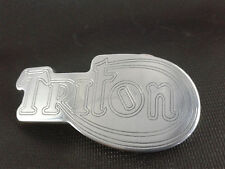 TRITON TRIUMPH NORTON SHAPED BELT BUCKLE POLISHED ALUMINIUM CNC ENGRAVED