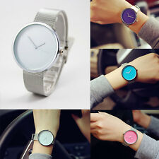 Fashion Women Silver Stainless Steel Watch Casual Analog Quartz Wrist Watches