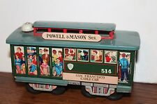NICE TIN LITHO FRICTION POWERED SAN FRANCISCO TROLLEY CAR #514