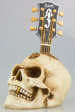 GOTHIC SKULL -  Weird Bone Effect Human Head Bust In Vintage /Antique Finish NEW