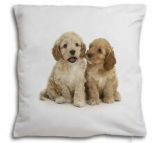 Cockerpoo Puppies Soft Velvet Feel Scatter Cushion Christmas Gift, AD-CP3-CPW