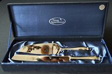 Things Remembered Silver Plate Cake server& Knife w/ Swarovski Crystal at tip