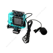 Skeleton Side Opening Housing Case + External Microphone for GoPro Hero 3 Green
