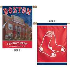 """BOSTON RED SOX FENWAY PARK 28""""X40"""" DOUBLE SIDED BANNER FLAG BRAND NEW WINCRAFT"""
