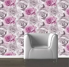 Luxary Designer Muriva  Madison 119505  Pink  Rose Floral Bloom Wallpaper New!!