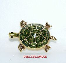 COLORFUL TURTLE MARKED TC  REAL NICE Brooch Pin #3003