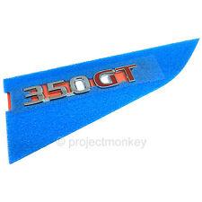 """JDM Nissan 03-08 Infiniti G35 Skyline V35 Sedan """"350GT"""" Emblem Badge Genuine OEM"""