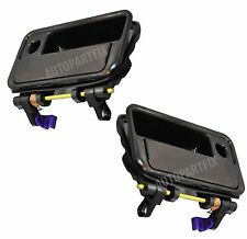 New Pair Front Door Handles Outside Exterior Black Left Right fits Geo Chevy Set
