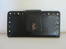 NWT Juicy Couture Black Snap Wallet YSRUS079 Gold hardware Leather clutch