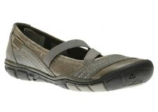 KEEN Contour Arch RIVINGTON Criss Cross Gray Leather Ballet Flats Shoes 9.5 40