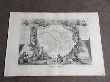 Ancienne Carte géographique du département de l'Aube  Levasseur vers 1850