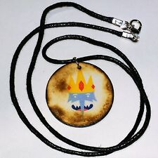 Adventure Time Necklace - Handmade - Ice King Wooden Pendant - Unusual
