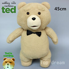 NEW Ted Bear Plush Toys Soft Stuffed Doll Cuddly Teddy Bears Kids Gift 45cm RARE