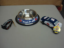 New Nascar #88 Dale Earnhardt Jr. 3 Piece Lot Dog Collar/Bowl/Toy #56