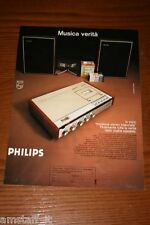AS18=1972= PHILIPS REGISTRATORE STEREOFONICO=PUBBLICITA'=ADVERTISING=WERBUNG=