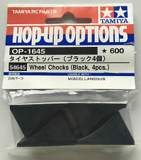 Tamiya 54645 Wheel Chocks (Black, 4Pcs) NIP