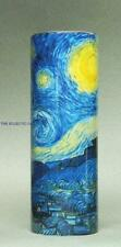 VAN GOGH STARRY NIGHT Ceramic Cylinder MUSEUM VASE Dutch Artist
