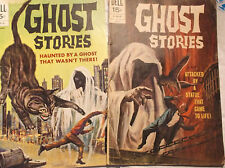 Ghost Stories #27, #29  (VG, G) Giant Cat Cover Death Bone (Dell 1971)