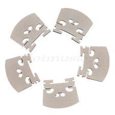 5pcs Violin Bridge 1/2 Size Maple Wood Violin Accessory