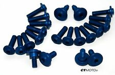 DUCATI 848 1098 1198 BILLET FAIRING BOLT SCREW SET BLUE