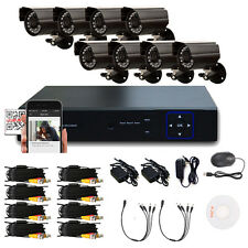8PCS 1300TVL 8CH HDMI 960H DVR IR Waterproof Outdoor CCTV Security Camera System