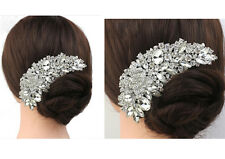 New Bridal Wedding Crystal Rose Flower Rhinestone Hair Comb Hair Accessories