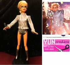 OOAK Barbie Doll Custom Lady Gaga At Super Bowl - Singer - Handmade Collector