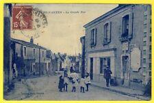 cpa SEVRE NANTES (Loire Atlantique) La Grande Rue Animée DOCKS de l'OUEST