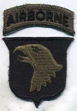 Vietnam era US Army 101st Airborne Subdued Cut Edge Patch With Tab