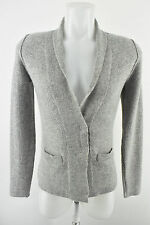 NOA NOA Women`s Grey Lambswool Suit Jacket Long Sleeve Wool Collared Size XS