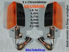 NEU 2x Chrom Blinker f. YAMAHA XJ 900 31A 58L 4BB XJ900 flasher / turn indicator