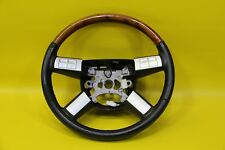 2006 CHRYSLER 300 C WOOD GRAIN STEERING WHEEL W/ RADIO CRUSE CONTROLS USED BLACK