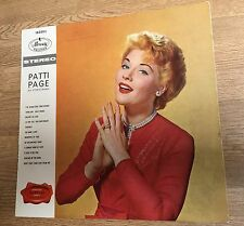 French LP Patti Page en stereorama 1960 EXC