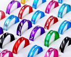 Wholesale 100pcs lots Mix Colored Aluminum Band Rings Fashion Jewelry Free Ship
