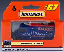 Matchbox Super RTL TV News Truck Blue #67 German Issue 1999 Mint In Box