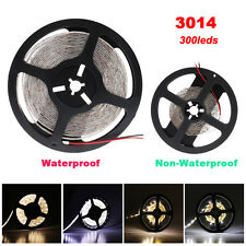 5M-15M Tira de Led 3014 (Non) IMPERMEABLE Blanco Frio o Cálido 300/600 Led strip