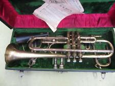 Large Bore(,468) King MASTER Trumpet HN White Site Horn ANTIQUE EARLY 1900