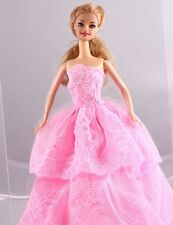 Wholesale Handmade Pink The original soft clothes dress for barbies doll 1094